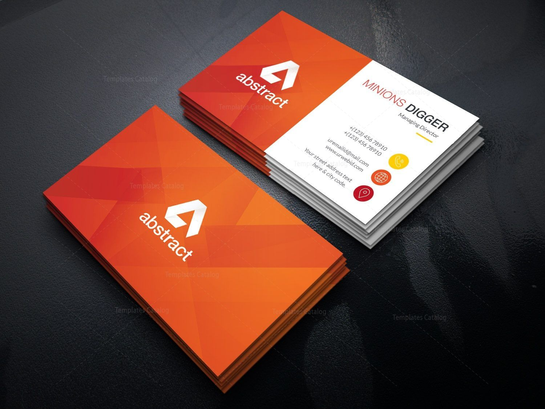 Orange Business Card Design 002425 Template Catalog Business Card Design Graphic Design Business Card Business Card Design Creative
