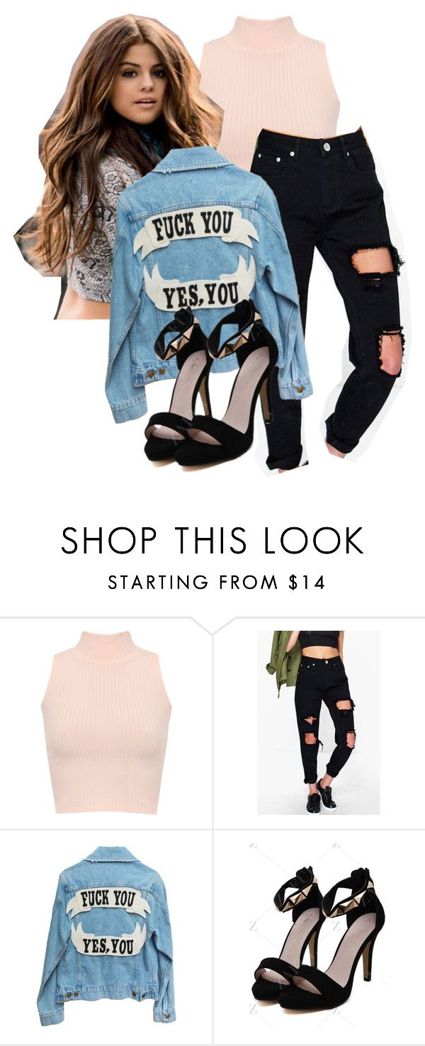 """""""Yes, you."""" by mariana-lana ❤ liked on Polyvore featuring WearAll and Boohoo"""