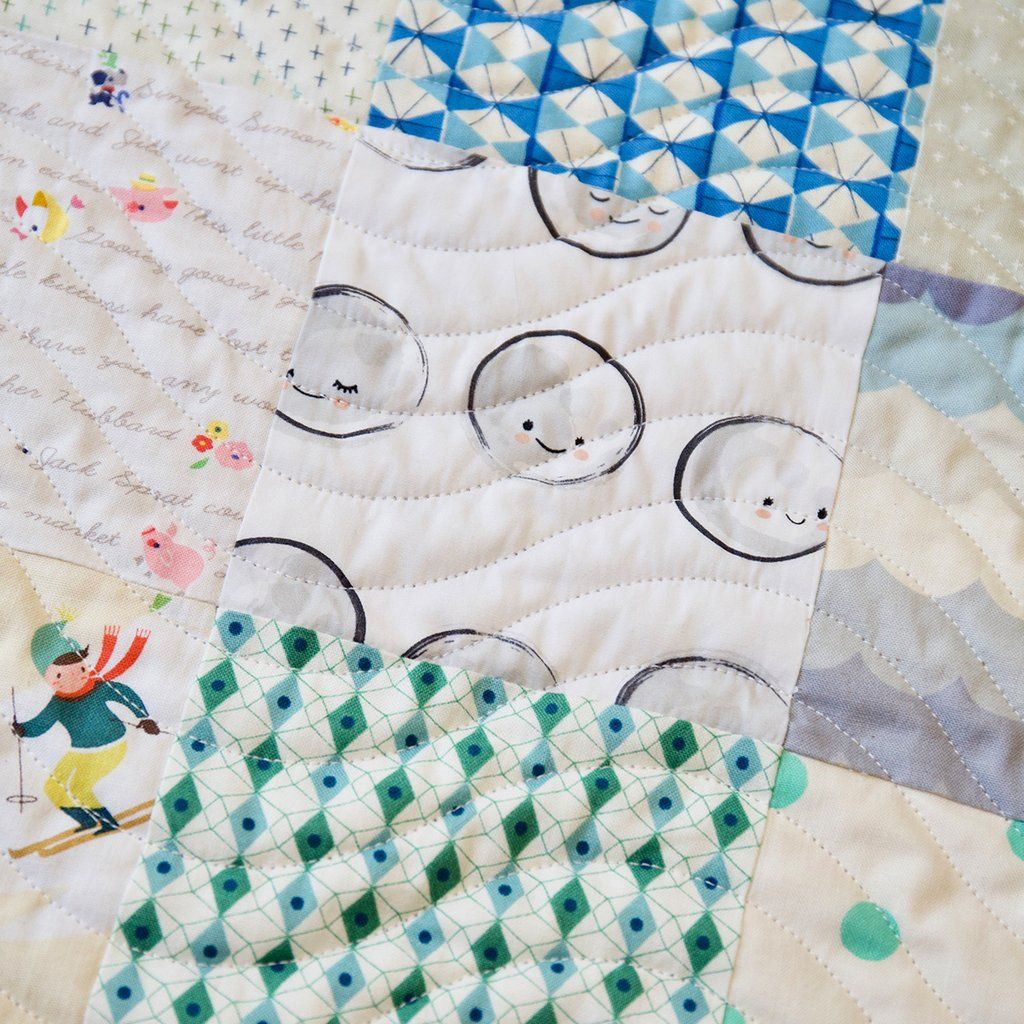 Baby Quilts.com Patchwork Baby Quilt Kit Aqua Quilting Baby Patchwork