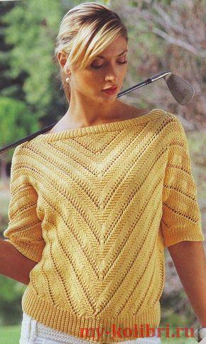 красивый свитер спицами женский схема