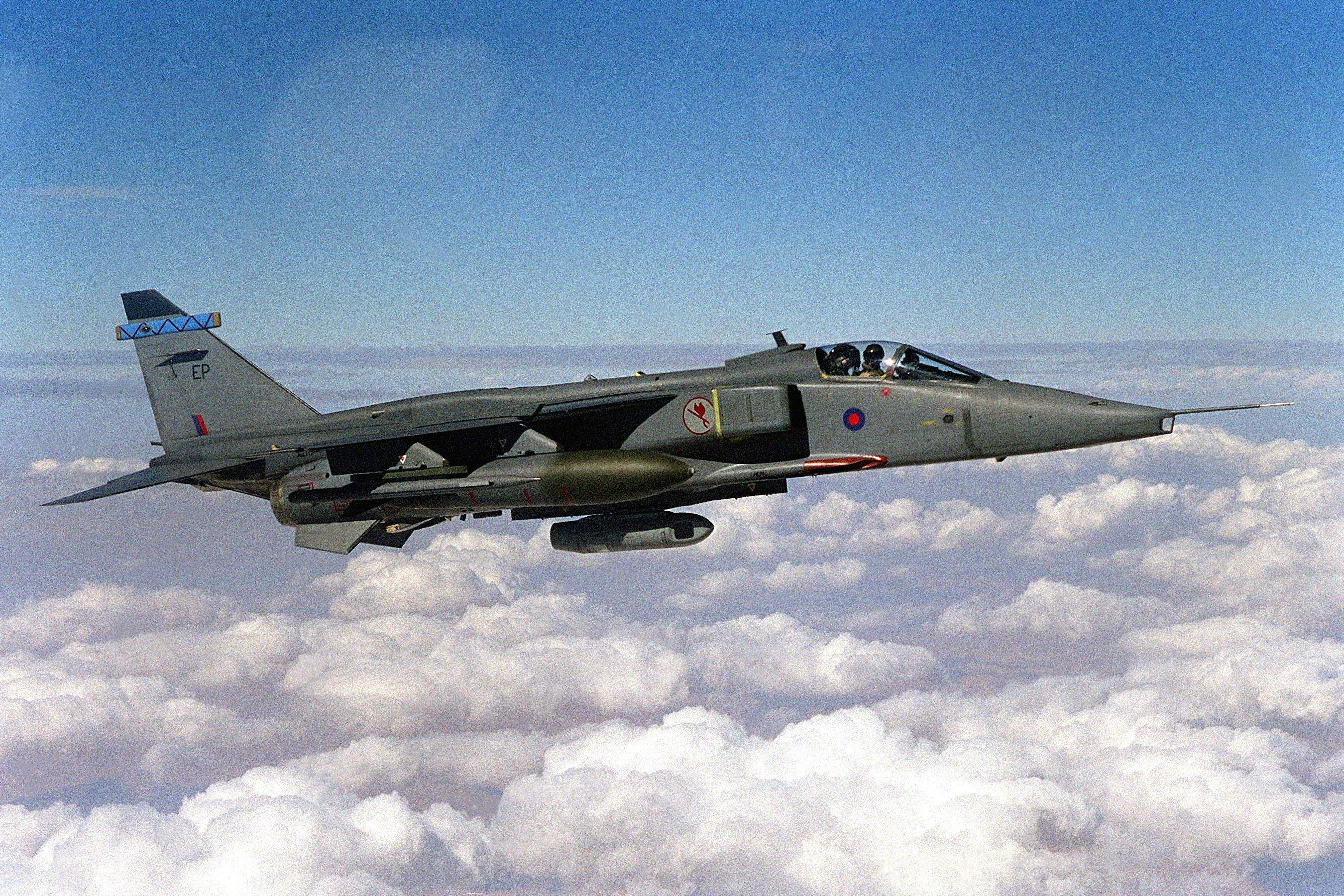 A British SEPECAT Jaguar GR3 fighter of No. 6 Squadron ...