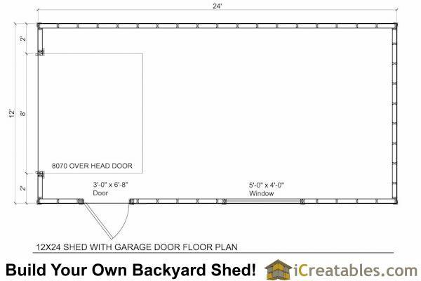 12x24 Garage Shed Plans Shed Floor Plans Shed Plans Door Plan