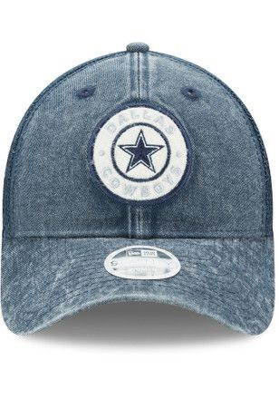 buy online 9a7ad f5182 Dallas Cowboys Navy Blue Perfect Patch LS 9TWENTY Adjustable Hat