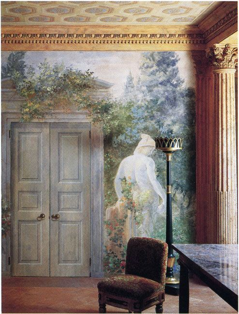 Frescoes Murals And Trompe L Oeil Part Ii Mural Mural Painting Scenic Wallpaper
