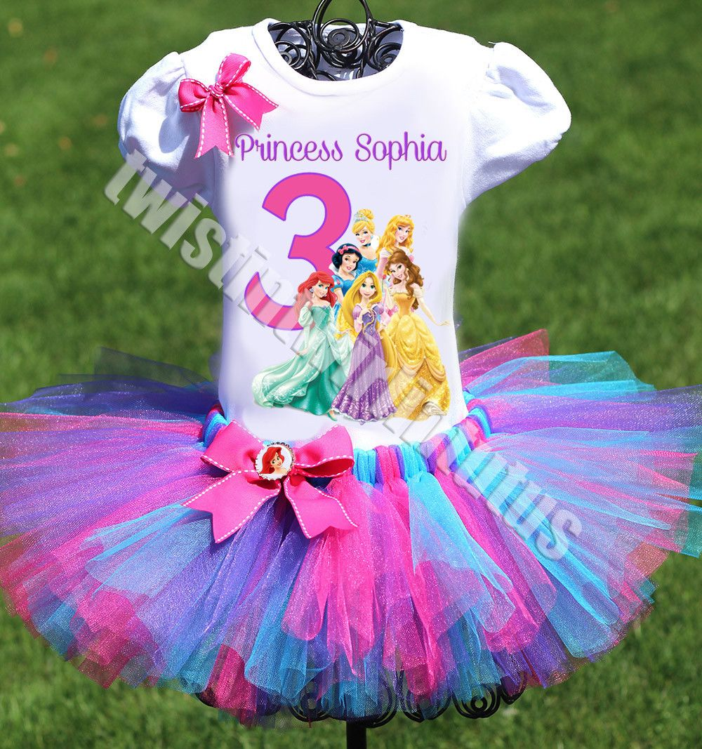 PRINCESS BIRTHDAY PARTY TUTU Birthday Girl T-Shirt and Tutu Skirt Set Gift