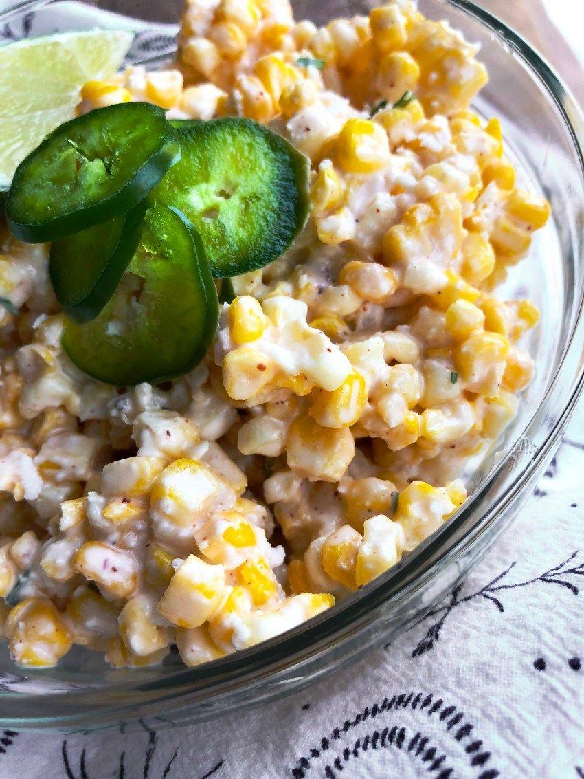 Easy Mexican Street Corn Salad #mexicanstreetcorn Easy Mexican Street Corn Salad   A Healthy Makeover #mexicanstreetcorn