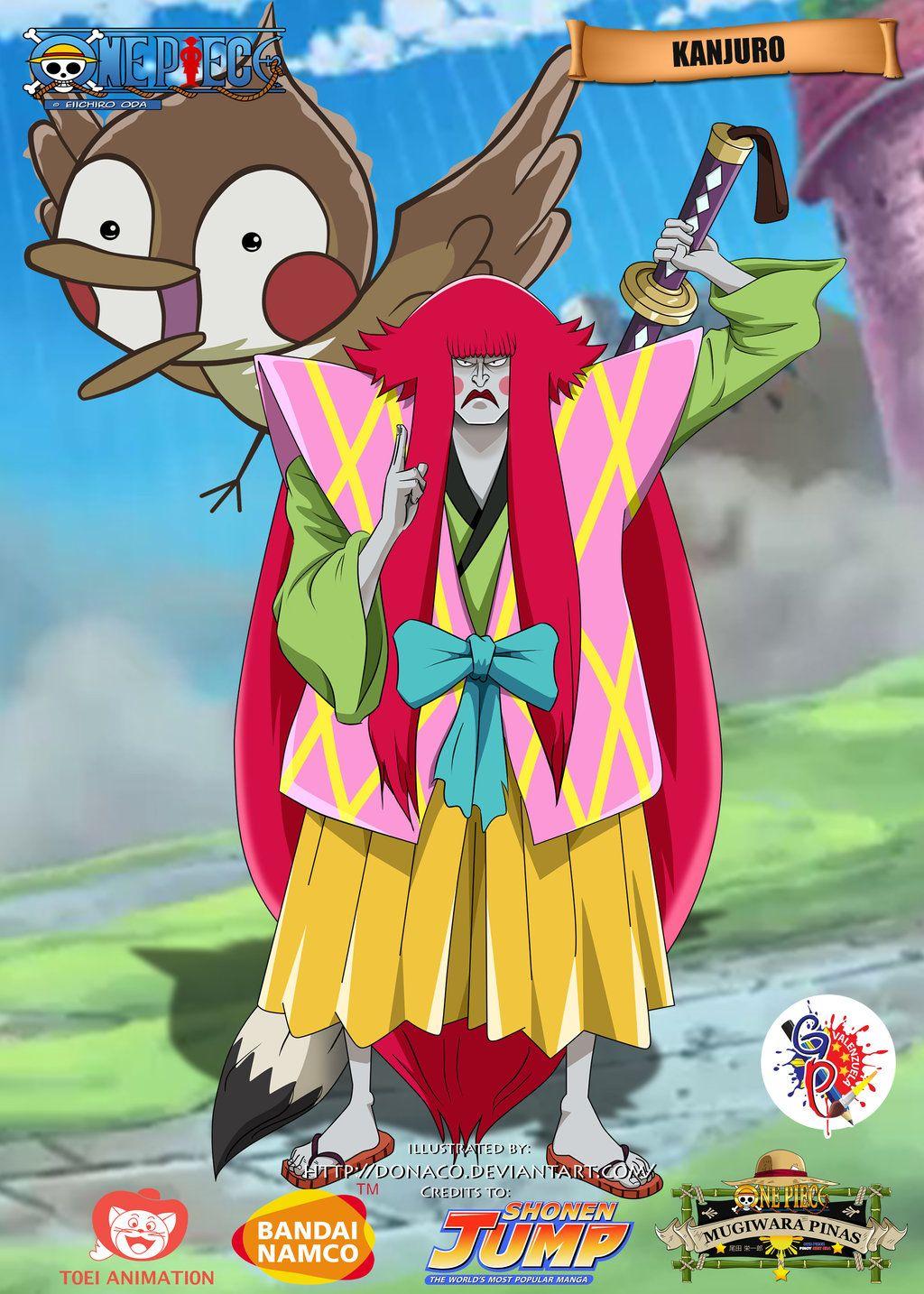 Kanjuro Anime One Piece Manga One Piece