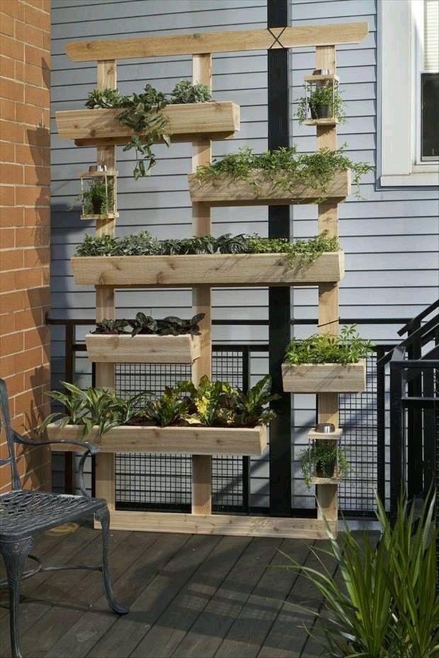 Marco de madera con deposito para plantas naturales! Decora un ...