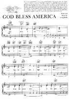 Irving Berlin God Bless America Free Downloadable Sheet Music