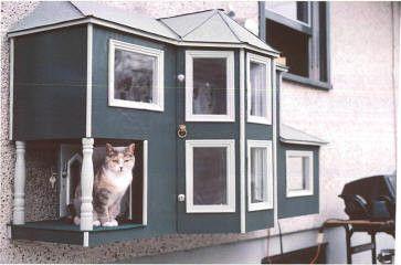 ネコちゃんの海外のおしゃれなペットハウス インテリアのアイデア32 猫の屋外ケージ 猫ハウス ペット
