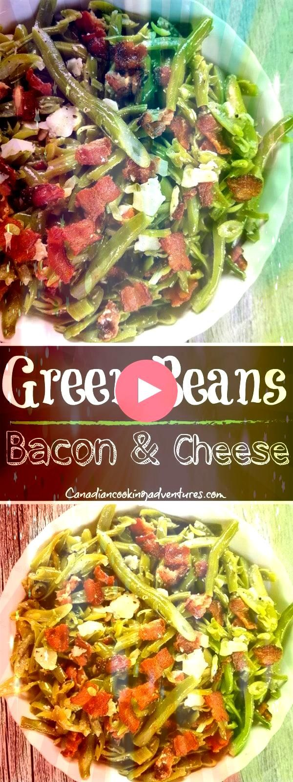 Beans with Bacon and Parmesan Cheese Green Beans with Bacon and Parmesan Cheese Green Beans with Bacon and Parmesan Cheese Enchiladas Verdes with a simple homemade roaste...