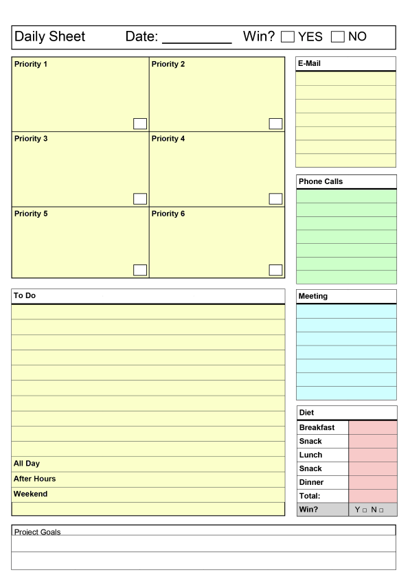 Agile image with productivity planner templates