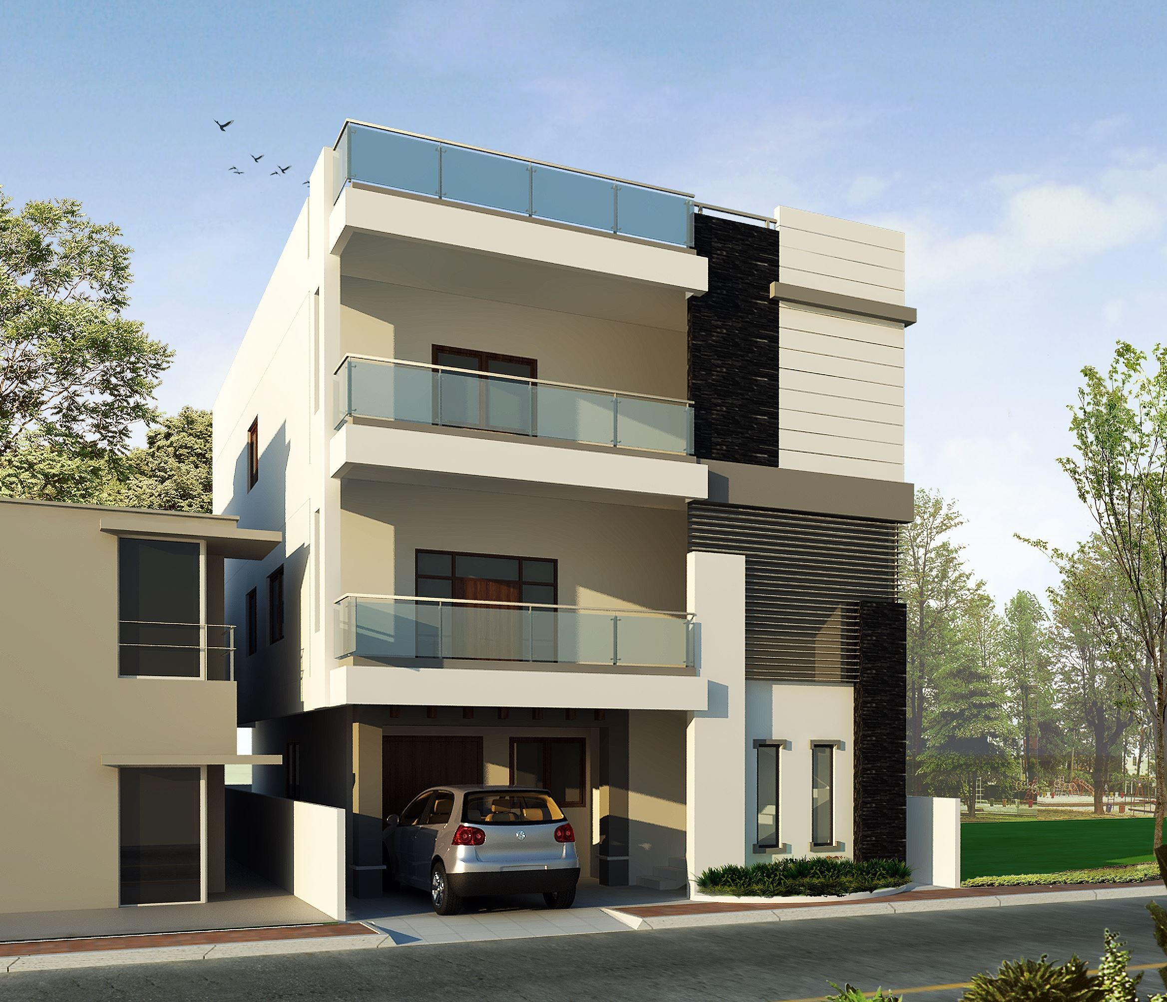 Hava a look at Mr.Vn Rao 's Home Elevation Let us know what you think about it in the comments below! If You Need Any Related Services  Please Contact : +91-040-64544555, +917995113333  Email: info@wallsasia.com www.wallsasia.com