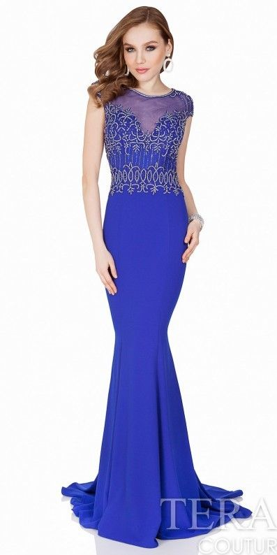 Terani Couture Beaded Baroque Evening Gown. Mermaid gown fashions. I ...