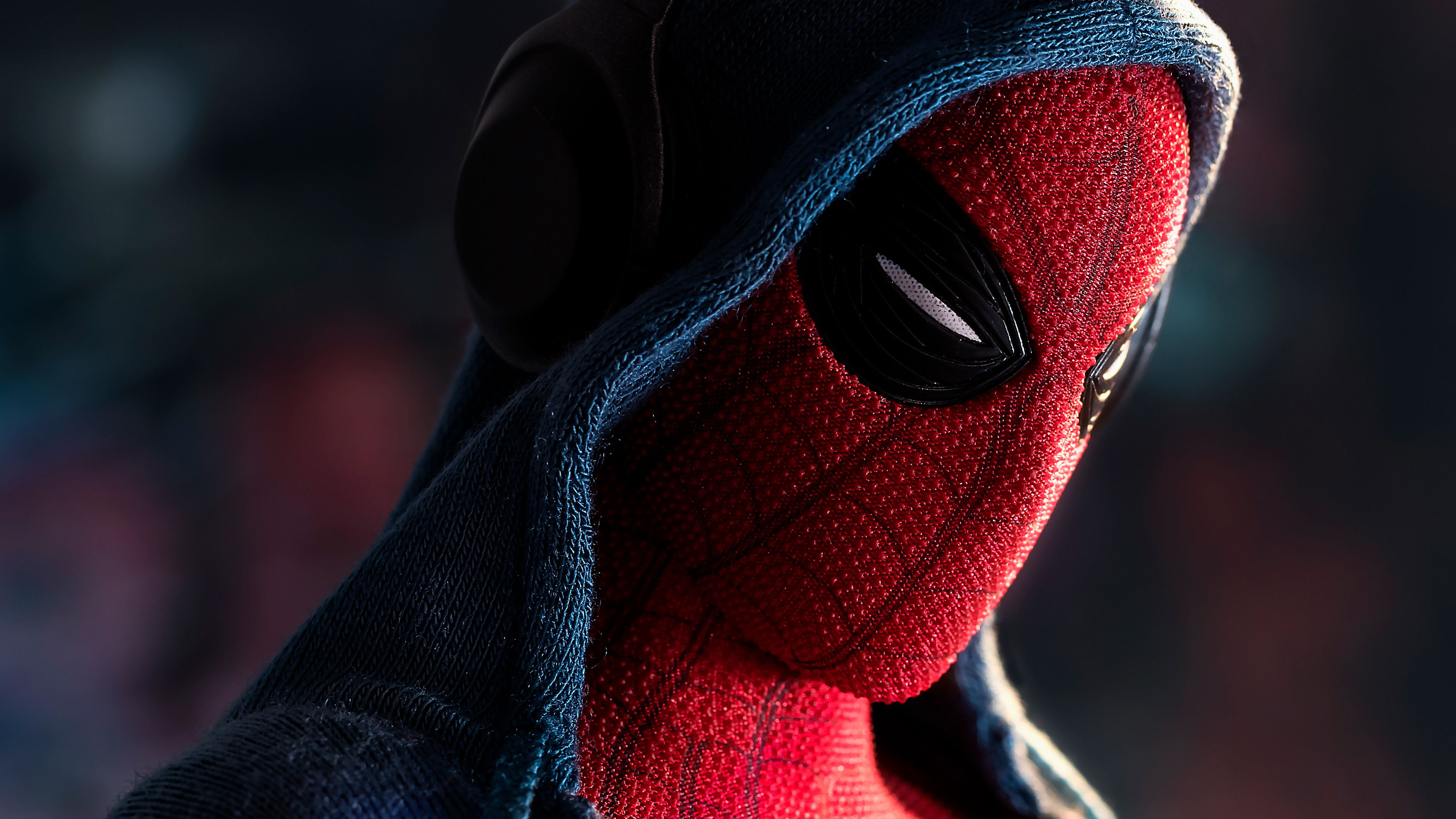 Spiderman In Hoodie 4k superheroes wallpapers, spiderman