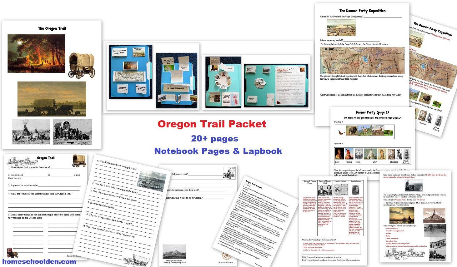 Oregon Worksheets