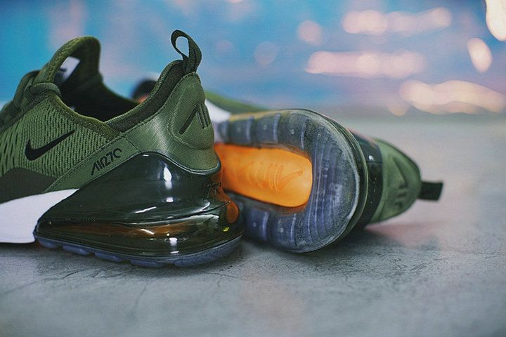 the latest b5364 68bd4 new style Style Nike Air Max 270 Mesh Sports Army Green Ah8050 300 Shoe