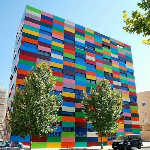 Colorful Building Spain Oddities Curious Funny And Humor Pics