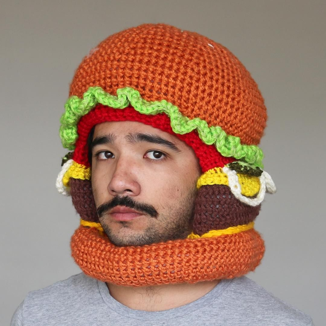1d4e7c6d613 Love the ketchup and mustard hat.... How does anything get better than  these crochet food hats by chiliphilly