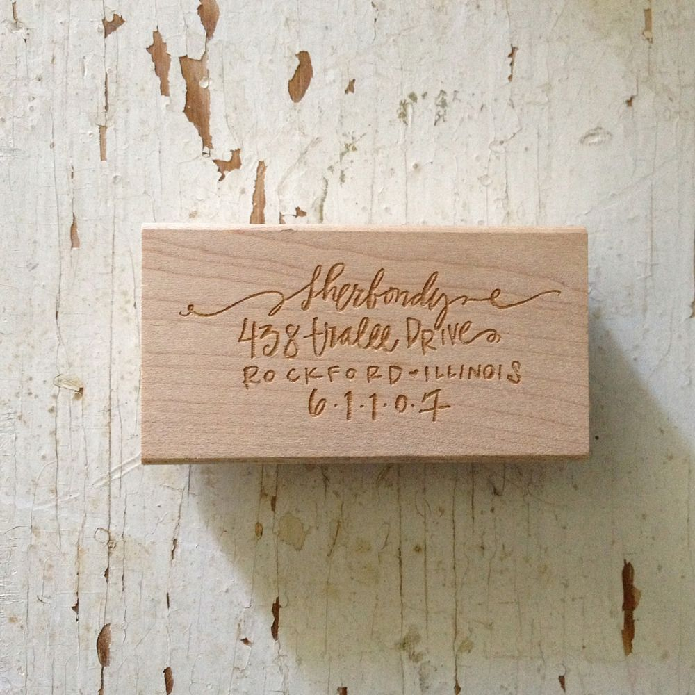 Personalized Rubber Stamp by Lindsey Letters