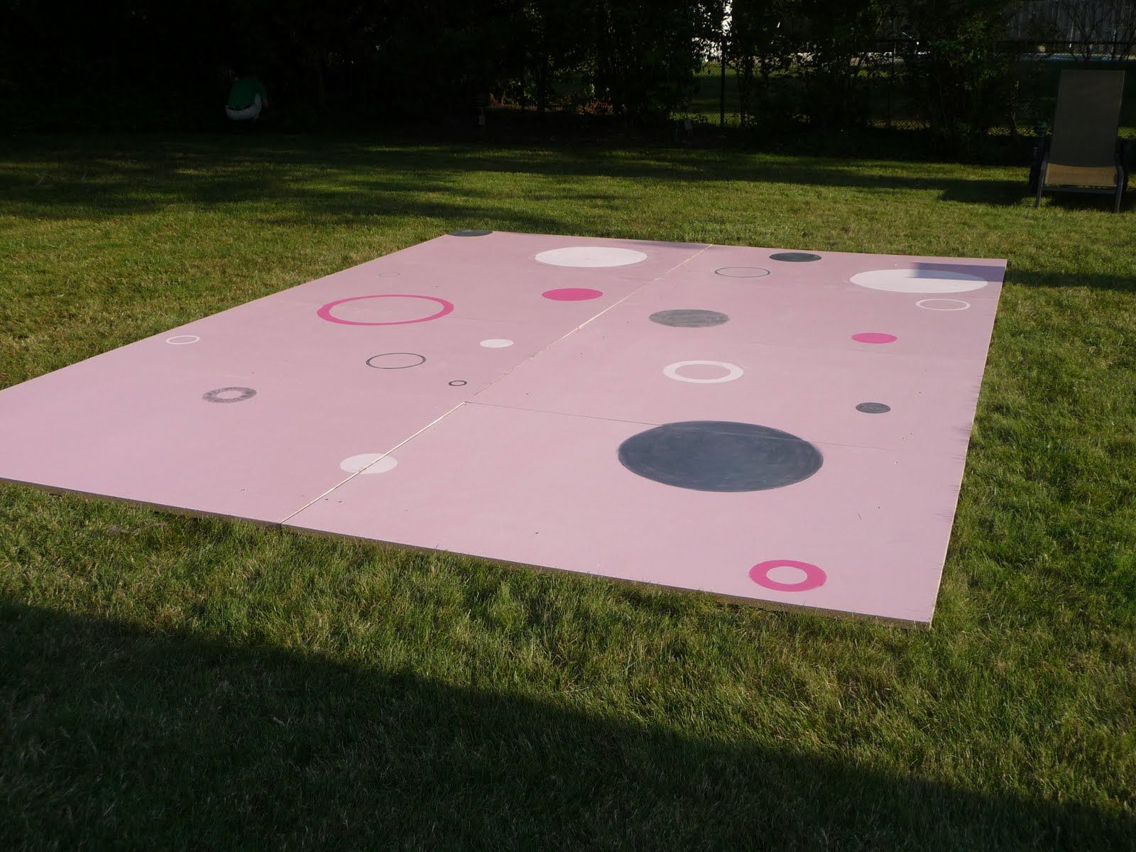 Flooring For Outdoor Parties : Diy dance floor for a teen party th of july