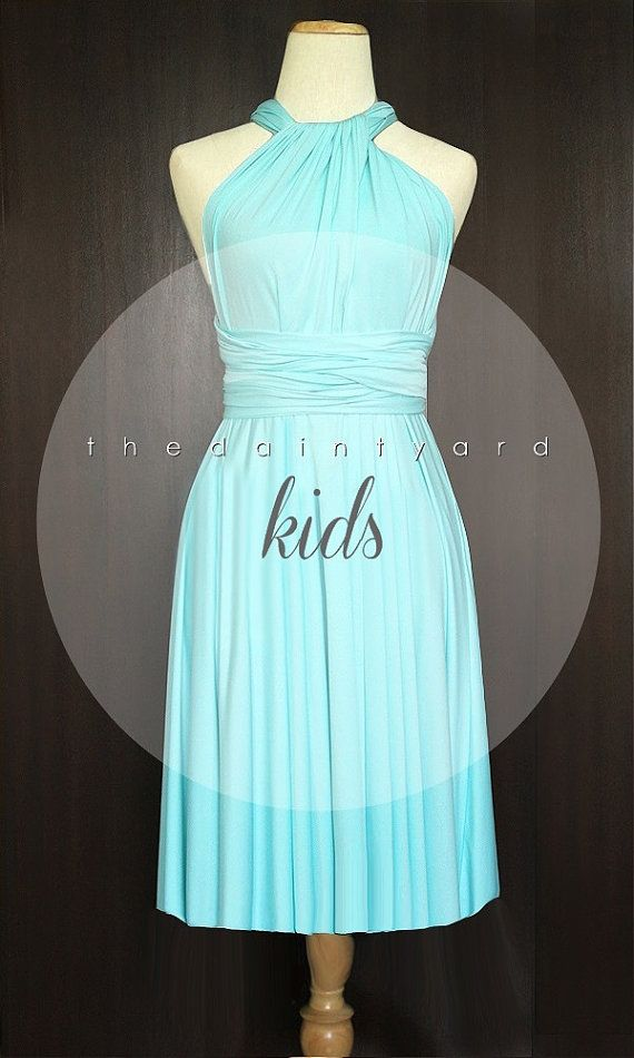 c2455c16e3 KIDS Sky Blue Bridesmaid Dress Convertible Dress Infinity Dress Multiway  Dress Wrap Dress Twist Dress Flower Girl Dress