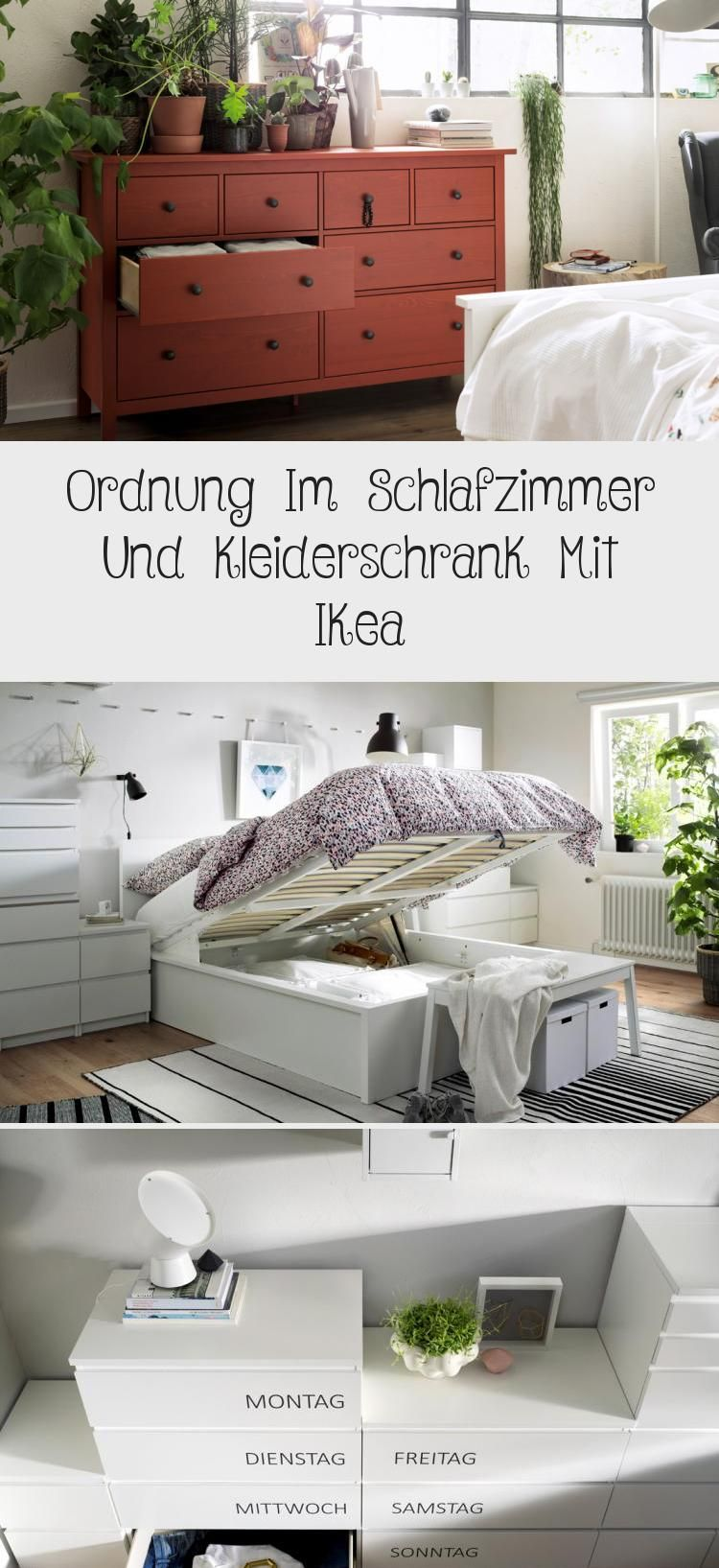 Ordnung Im Schlafzimmer Und Kleiderschrank Mit Ikea Storage