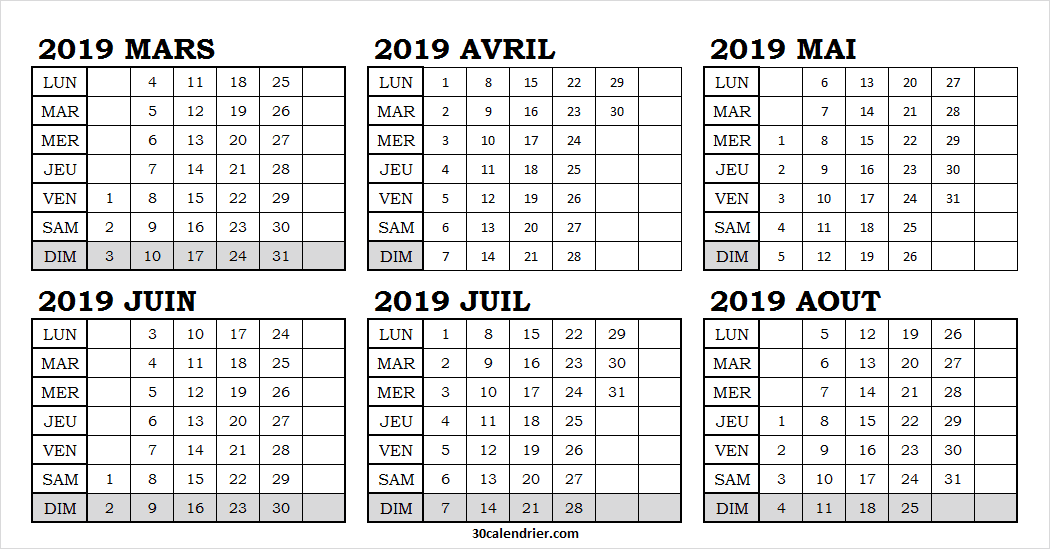 Calendrier 2019 Png.Pin On Calendrier Mars 2019