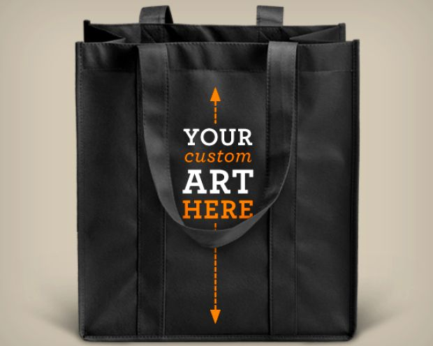 custom reusable shopping bags - proceeds to benefit local charity ...