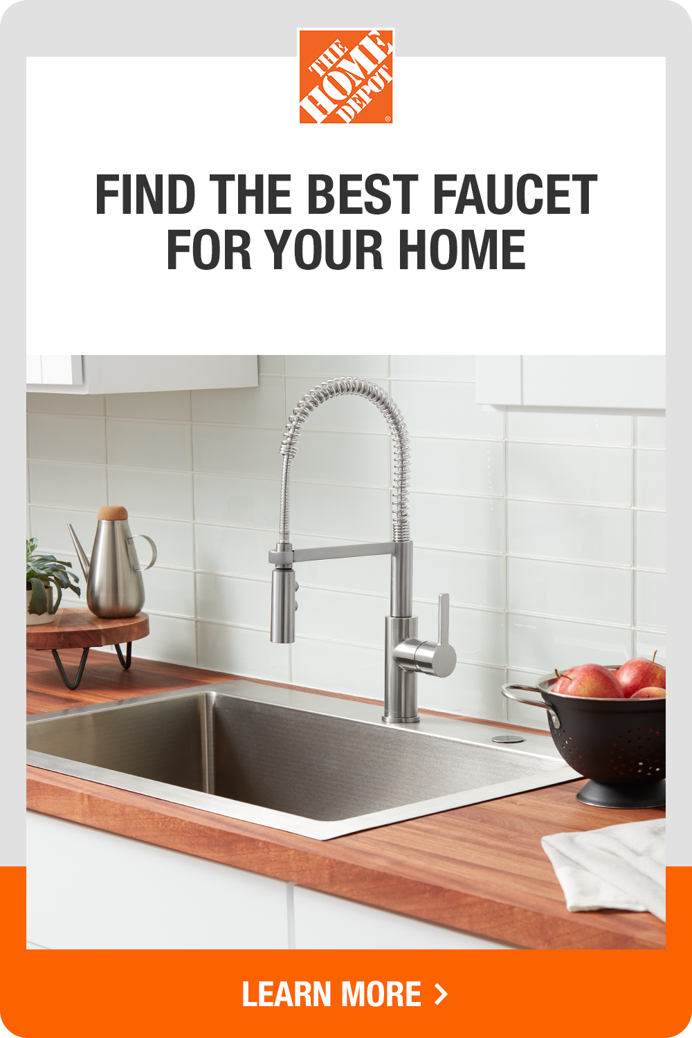Find The Right Style To Refresh Your Kitchen With Faucets From Home Depot Single Handle Faucet High Arc