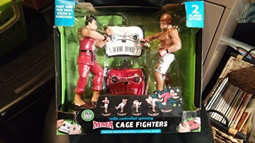 The Black Series MMA Cage Fighters With Radio Control Spinning Action R/C Kicks - Open Box New EB2