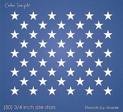 Stencil 50 3 4 Size Stars Proud American Liberty Flag Patriotic