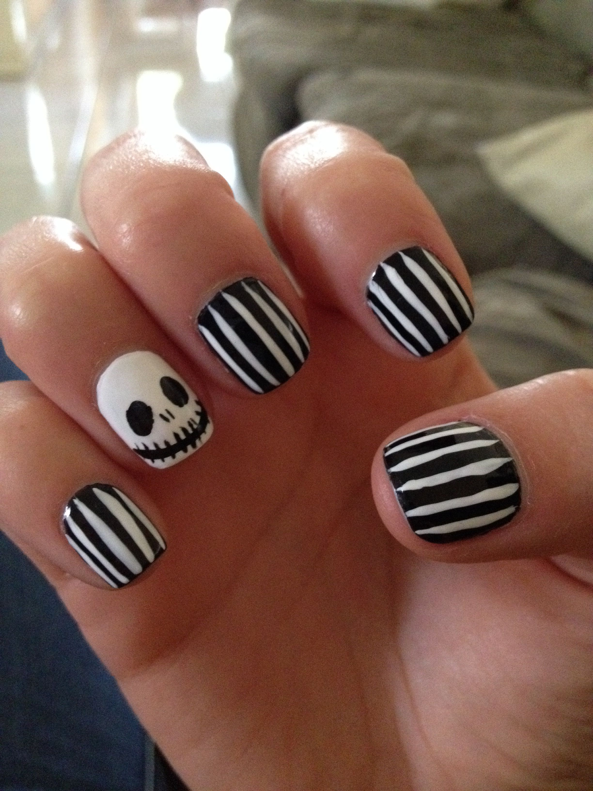 Nightmare before Christmas halloween horror nights nails I got done ...