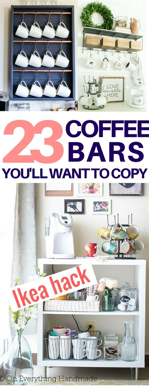 23 Best DIY Coffee Station Ideas You Need To See | Pinterest | Diy ...