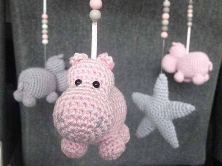 Instructions De Bricolage Mobilé De Crochet Par Lui Même Hippos