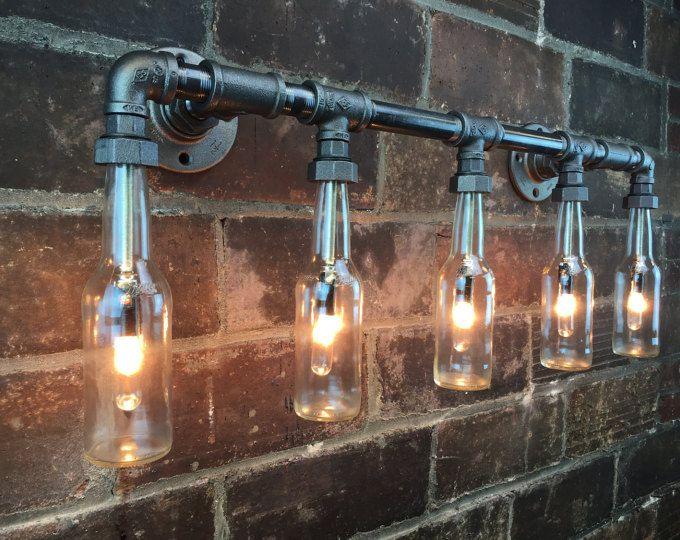 Industrielle Eitelkeit Licht Flasche Kronleuchter Steampunk