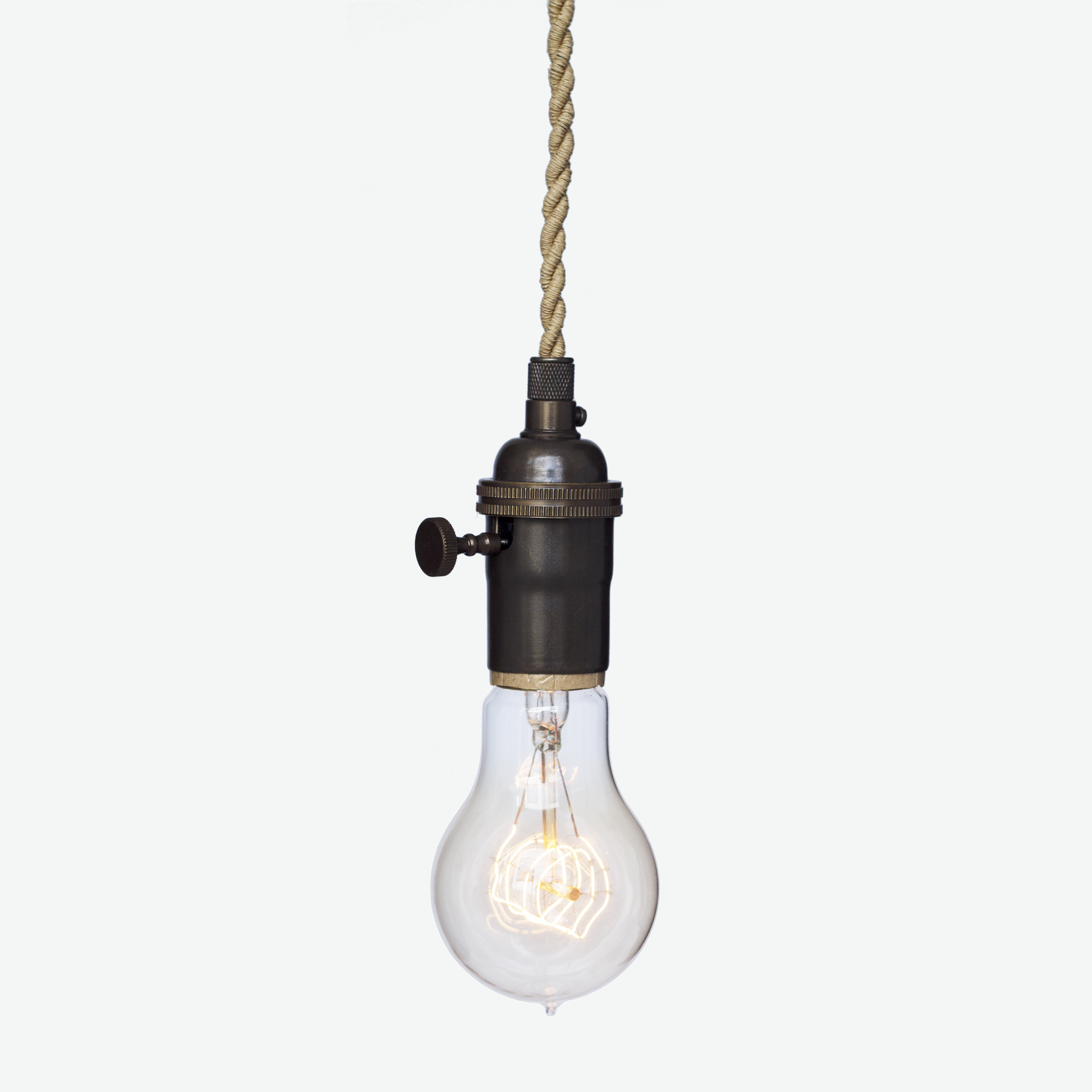 Nautical Ship Rope Cloth Cord Bronze Bare Bulb Pendant Light Hammers And Heels Bulb Pendant Light Bulb Pendant Light
