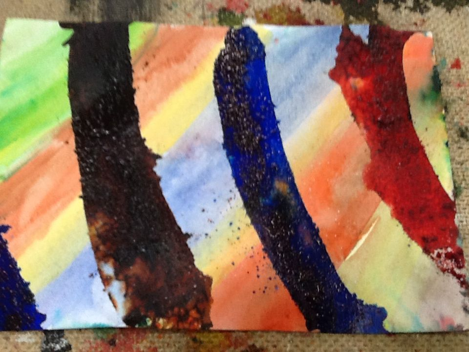 Watercolour & brusho