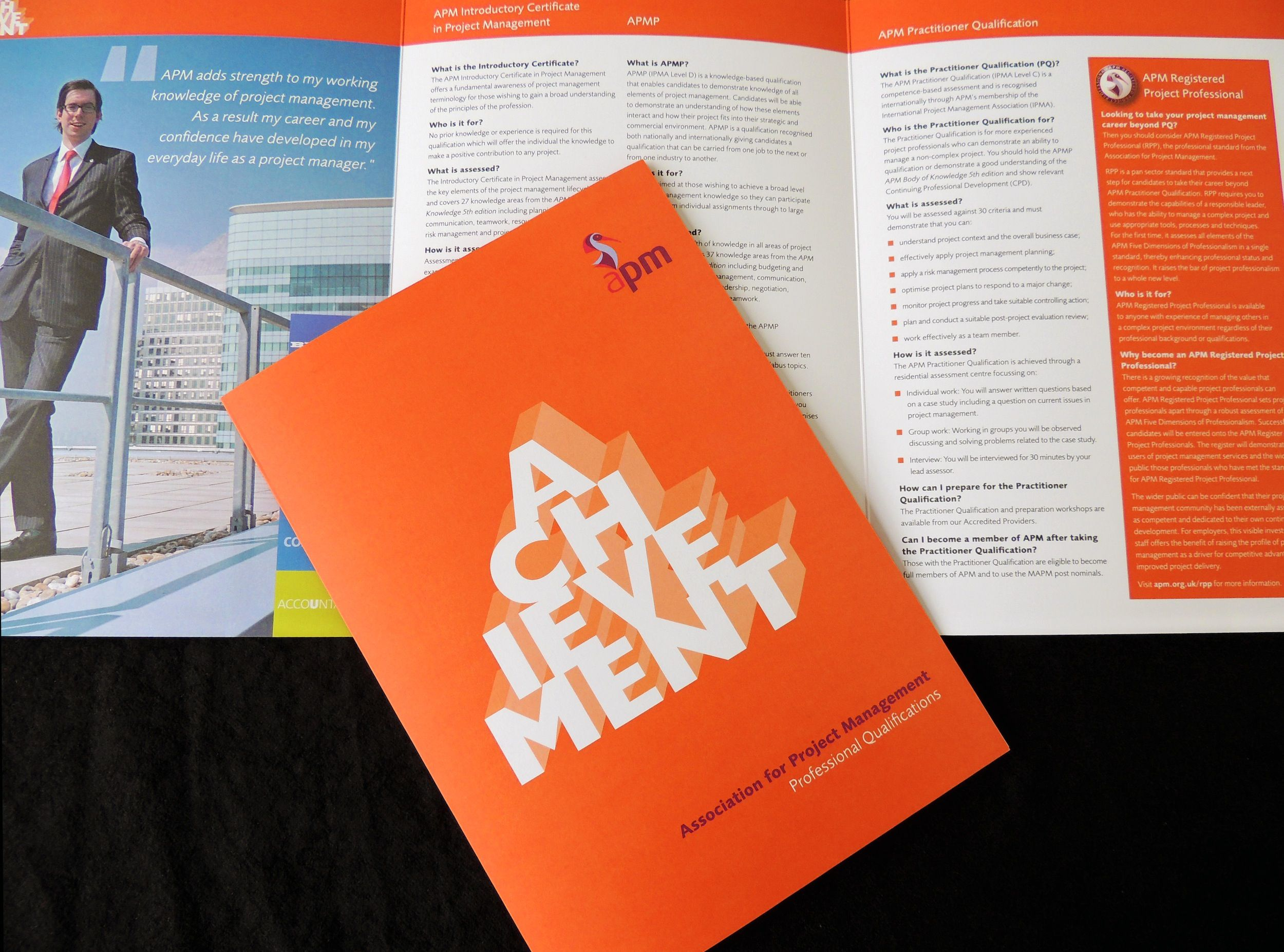 6 page Corporate Member's Brochures for 'Association for Project Management'