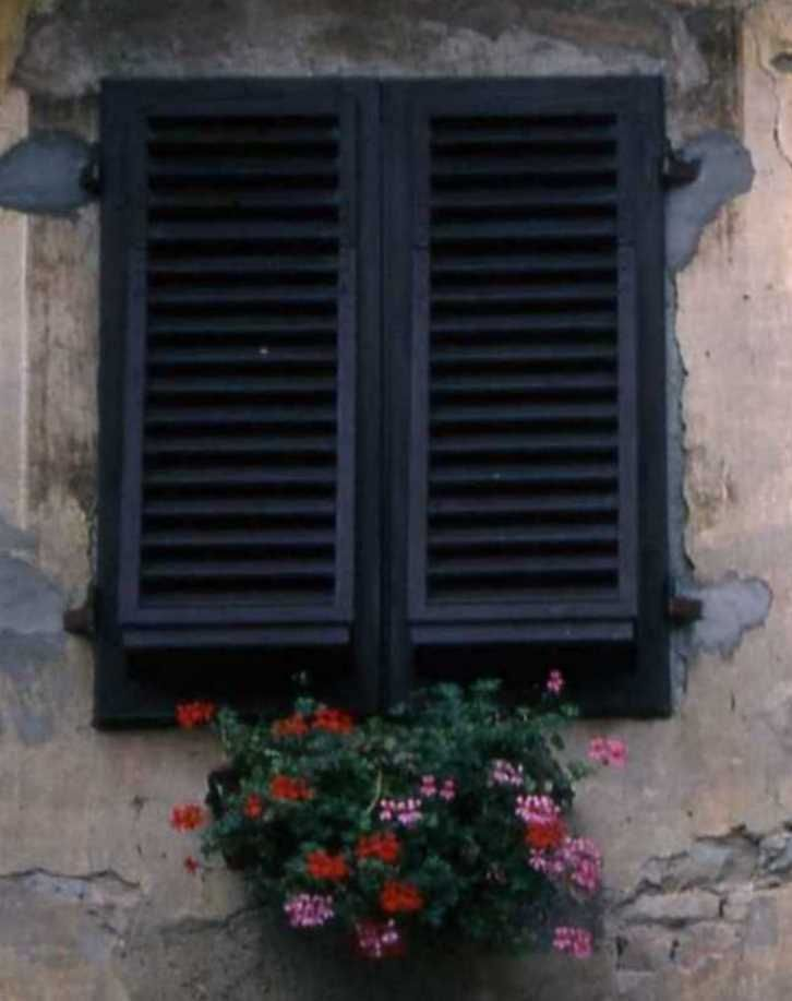 Shuttered Window at Castle Certaldo Alto, Italy  photo c koegl