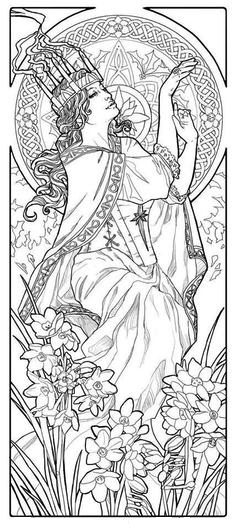 Imbolc Coloring Page Coloring Pages Adult Coloring