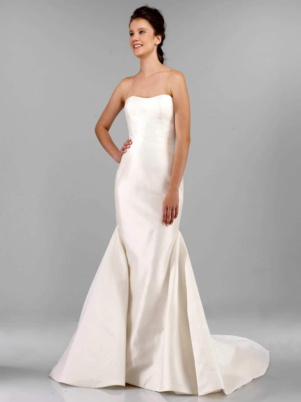 Fashion style Strapless beautiful wedding dresses photo for lady