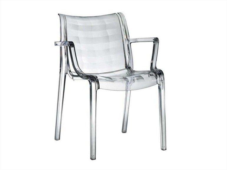 Chaise empilable en polycarbonate EXTRAORDINARIA by SCAB DESIGN ...