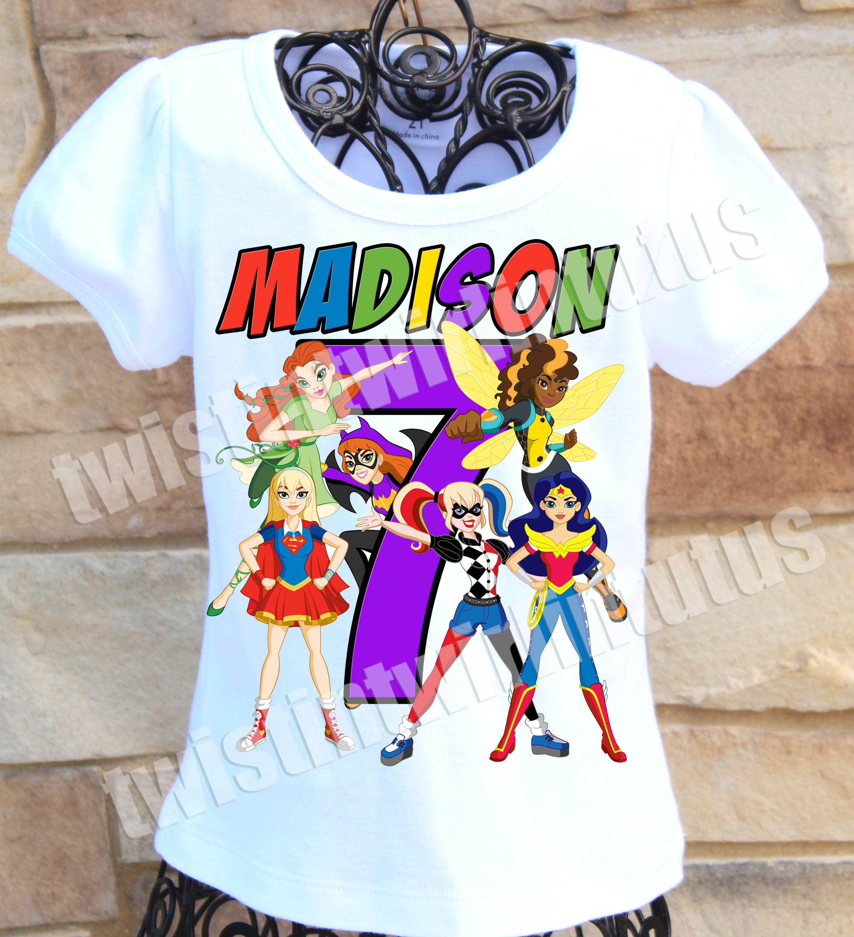 8616ea341 DC Superhero Girls Birthday | Wonder Woman Birthday Shirt | DC Superhero  Girls Birthday Shirt | Superhero Birthday Shirt | Twistin Twirlin Tutus ...