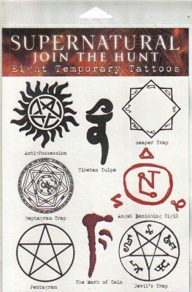 Supernatural Tv Show Tattoo Ideas