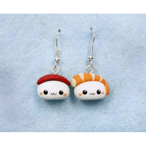 Earring Sushi Kawaii exclusive handmande