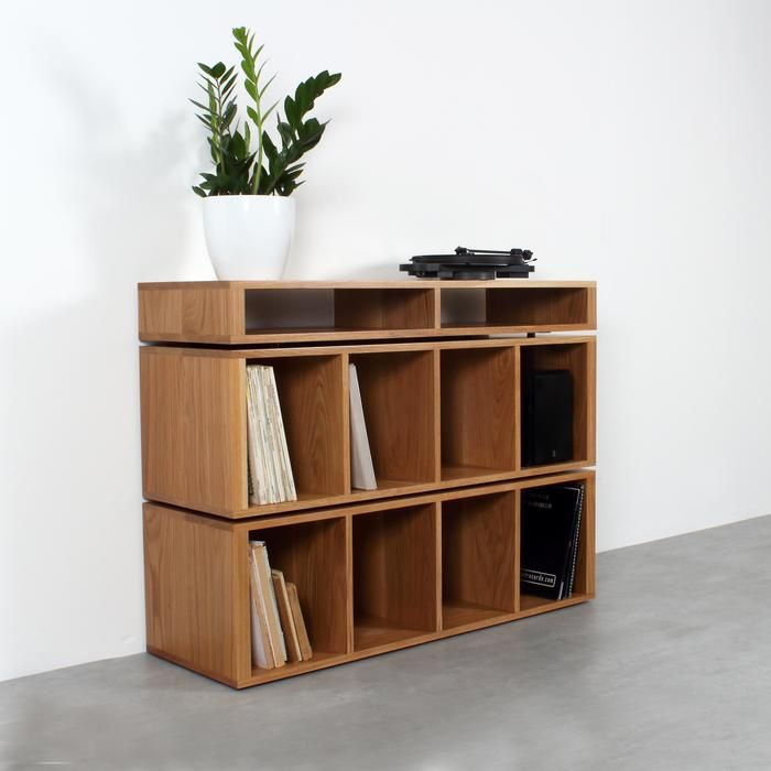 This Solid Wood Turntable Stand Is Perfect For The Serious Record Collector And Vinyl Enthusiast Designed Turntable Stand Vinyl Record Storage Record Storage