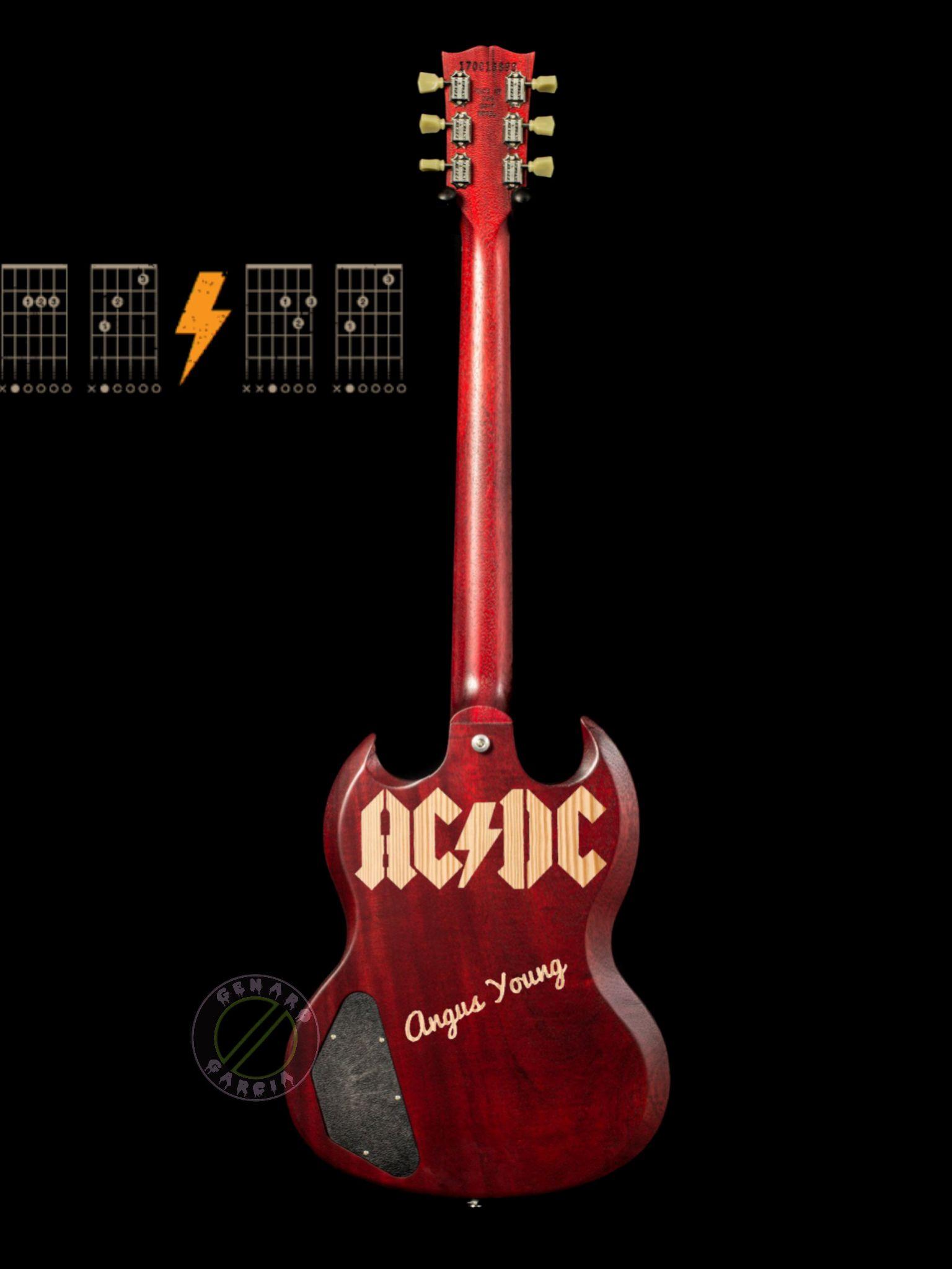 AC DC Angus Young Guitar