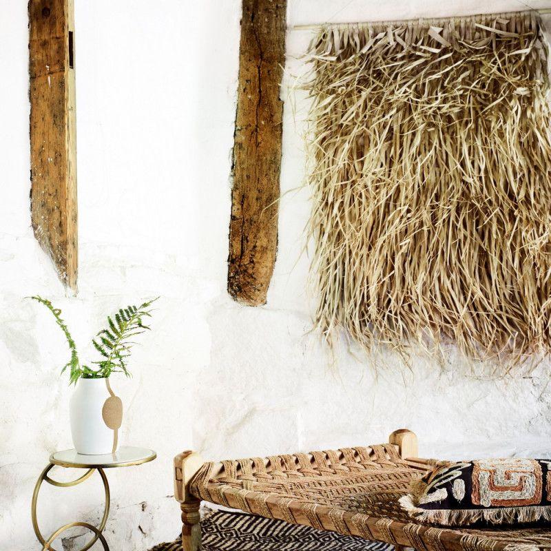 Tissage Feuille De Palmier Support Bambou 150 Cm Feuille Palmier Jonc De Mer Palmiers