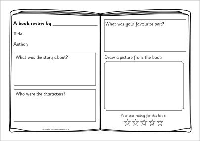 printable book review template